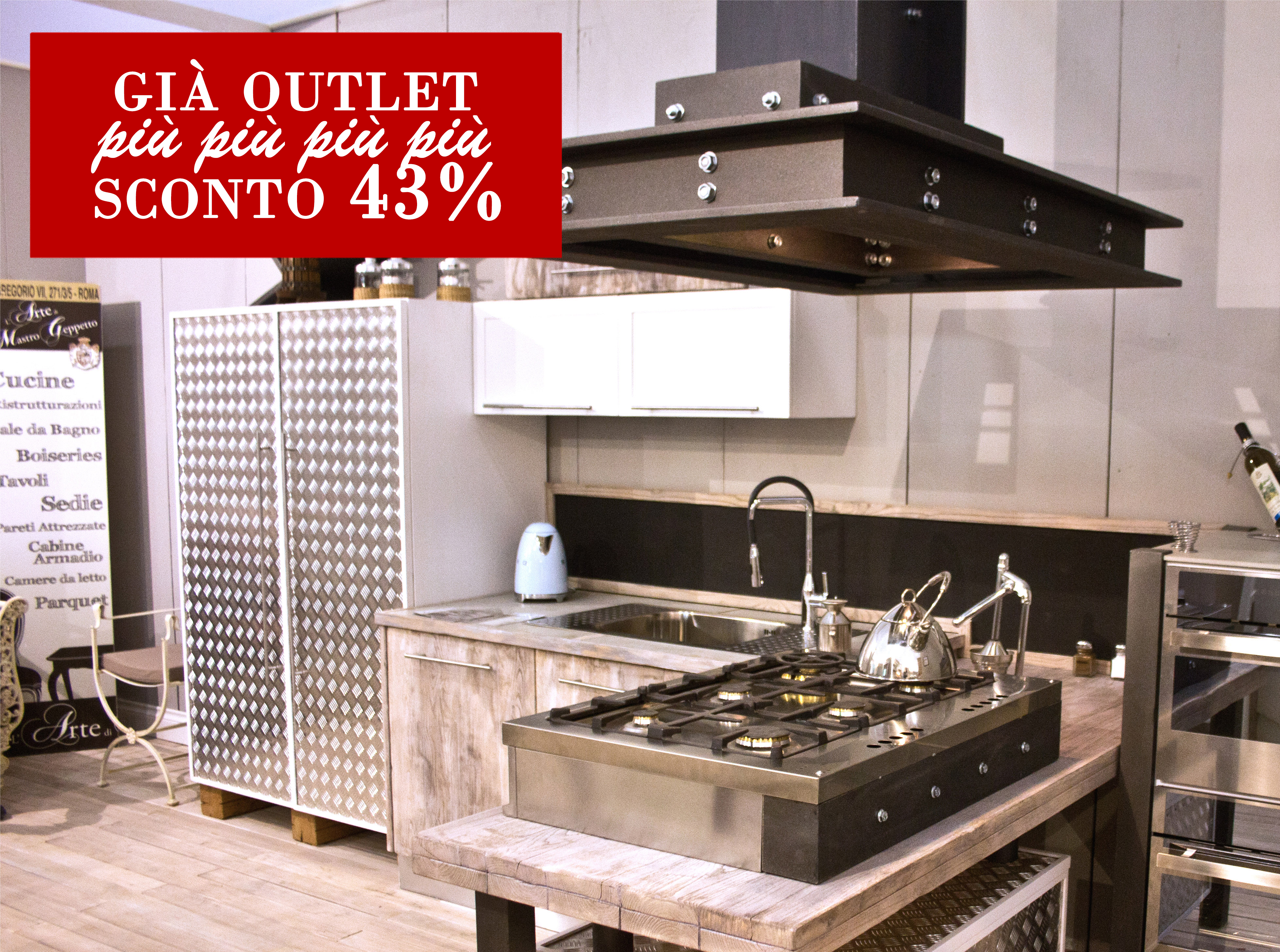 Sconto 43 Cucine Moderne Inobili Casa Cucine Su Misura A Roma